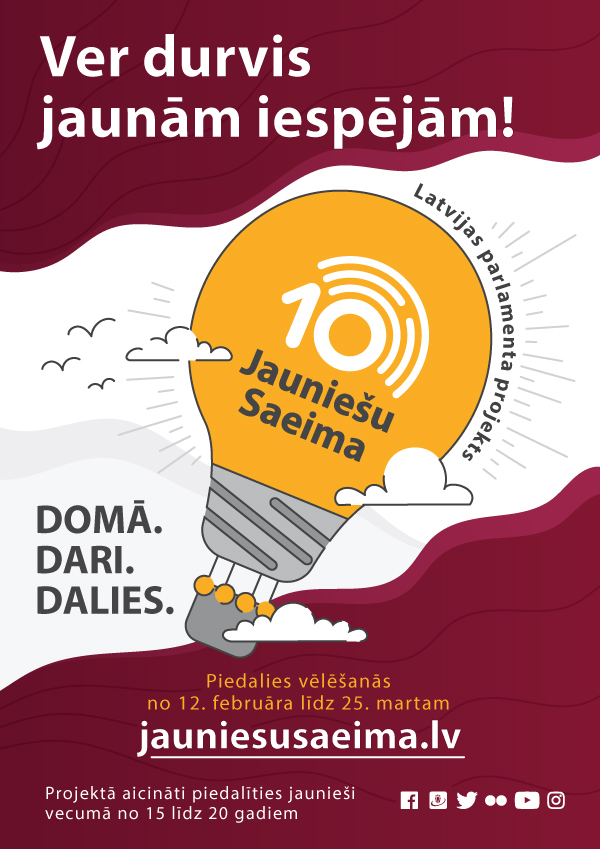 Image result for jauniešu saeima logo